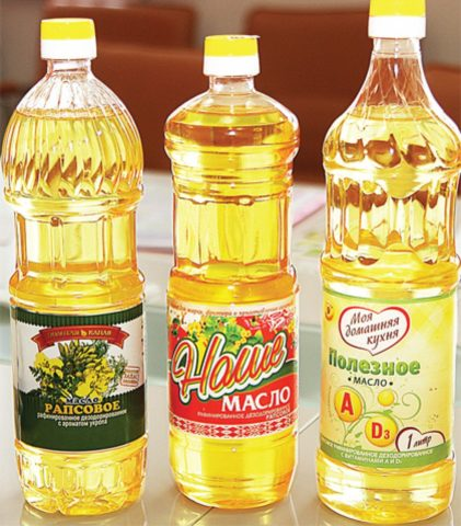В качестве смазки можно использовать недорогое растительное масло