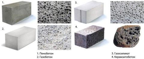 Внешнее отличие газобетона от других стеновых материалов