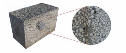 Внешнее отличие керамзитобетонного блока