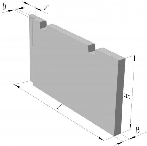 Железобетонная внутренняя перегородочная панель
