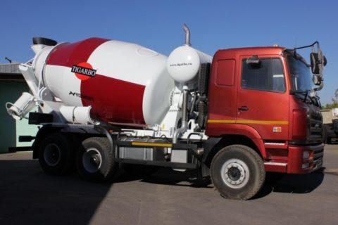 Автомиксер может доставить за рейс 12 кубов бетона