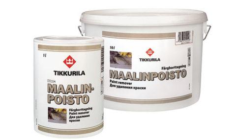 Безопасное средство для удаления старой краски, Маалинпойсто, Тиккурила
