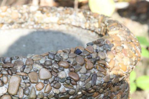Декоративная поверхность изделия из мытого бетона