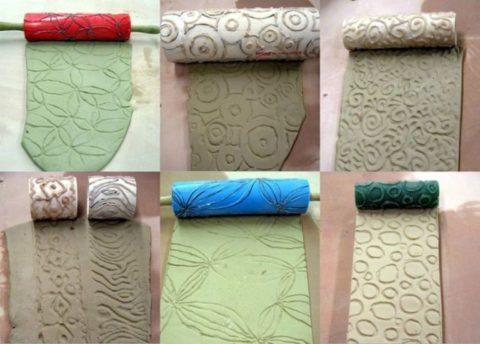 Декоративные насадки для придания поверхности различных рельефных рисунков