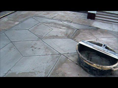 Декорирование бетонного покрытия