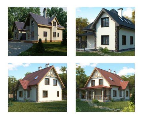 Дома из газобетона и пенобетона - варианты архитектурных решений