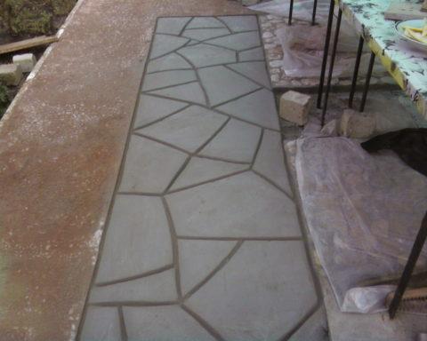 Дорожка из бетона
