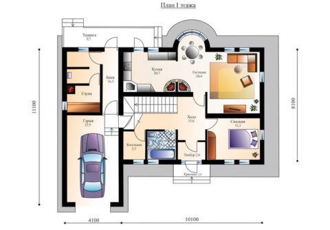 Доступ из гаража в дом и сауну