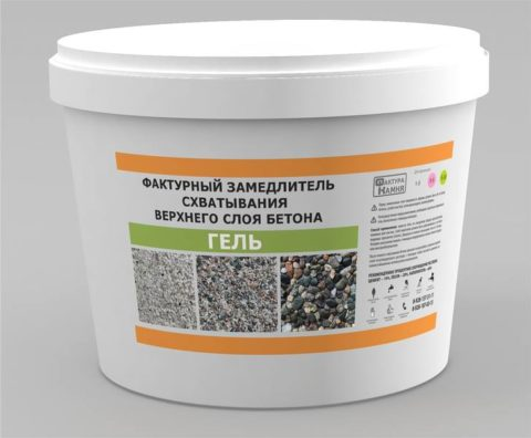Фактурный замедлитель для бетона