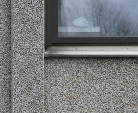 Фасад из мытого бетона