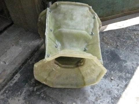 Форма для изготовления декоративного вазона из бетона