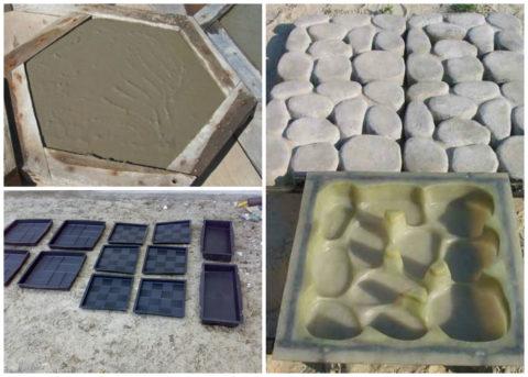 Формы для изготовления плитки из бетона