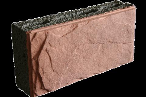 Керамзитобетонный блок лицевой