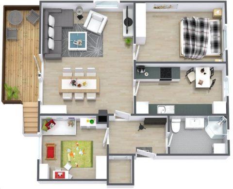 Кухня в виде отдельного помещения