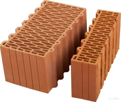 Лицевые керамические блоки