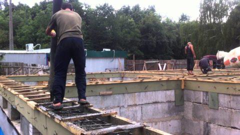 Монтаж армопояса