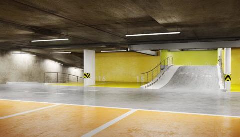 Наномодифицированный бетонный пол на крытой парковке