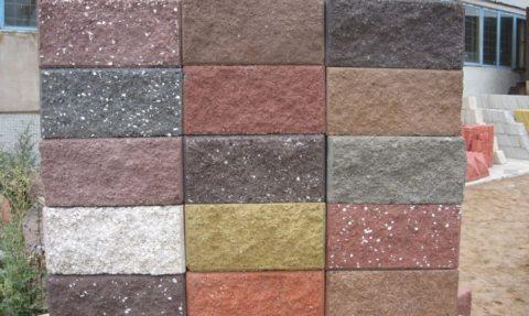 Облицовочные цветные керамзитобетонные блоки
