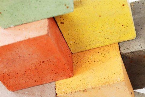 Образцы цветного бетона