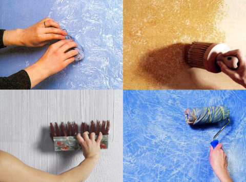 «Оживление» стен: придание ровным однотонным поверхностям оригинальной текстуры
