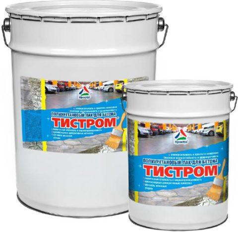 Полиуретановый лак для бетона Тистром, КрасКо
