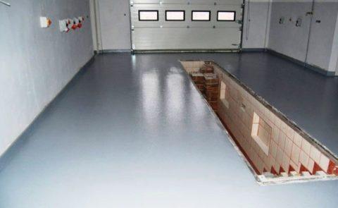 Практичный и красивый пол в гараже