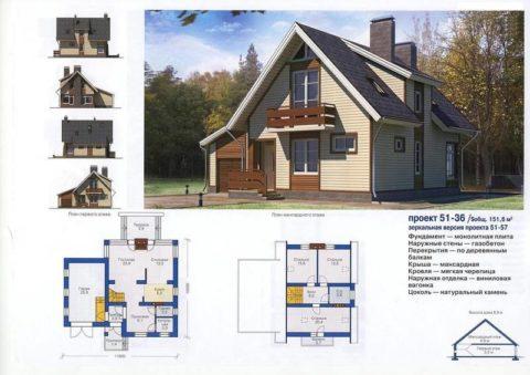 Проекты дачных домов из газобетона – вариант архитектурного решения