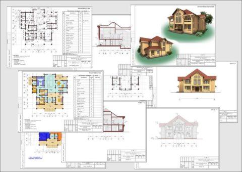 Проекты домов из блоков газобетонных – архитектурная часть