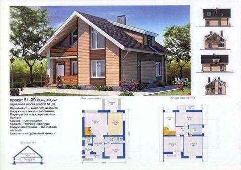 Проекты домов из газобетонных блоков – пример оформления