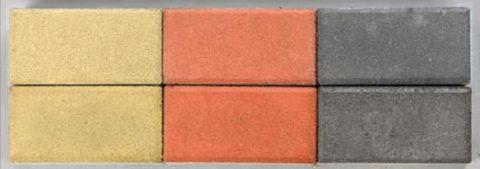 Различие цвета от расхода цемента: в верхнем ряду содержание его в образцах – 330 кг/м3; в нижнем – 450 кг/м3