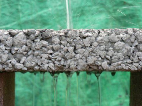 Структура мытого бетона