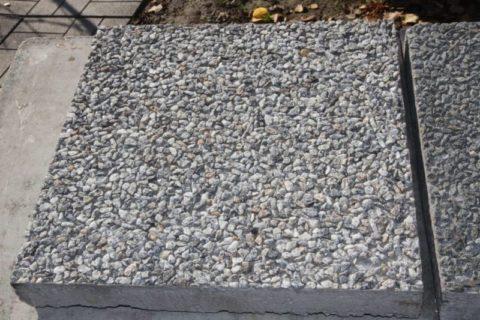Тротуарная плитка из мытого бетона