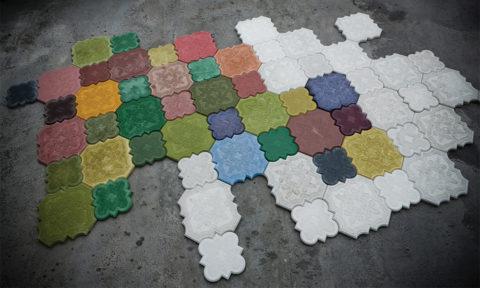 Цветные бетонные плитки