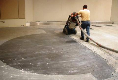 Удаление старого покрытия с бетона при помощи фрезеровки