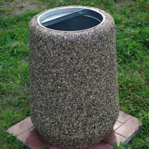 Урна из мытого бетона
