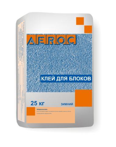 Зимний клей для газобетонных блоков «Аэрок»
