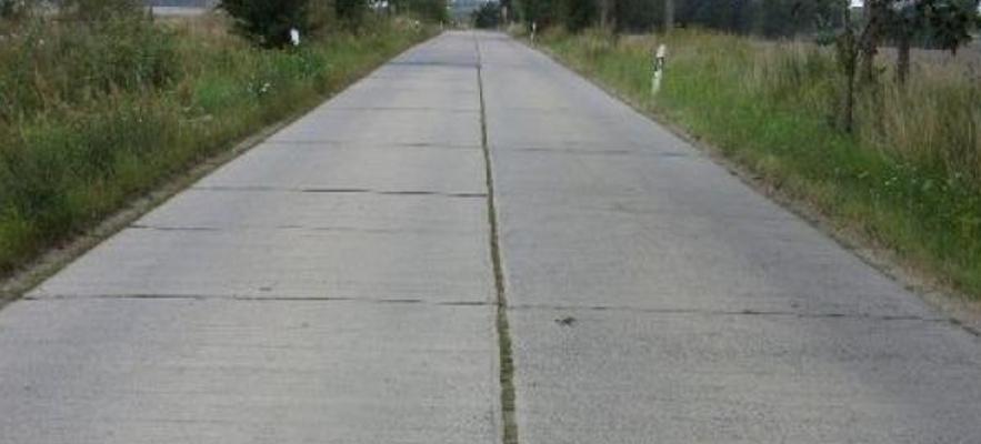 Дорога из плит бетонных