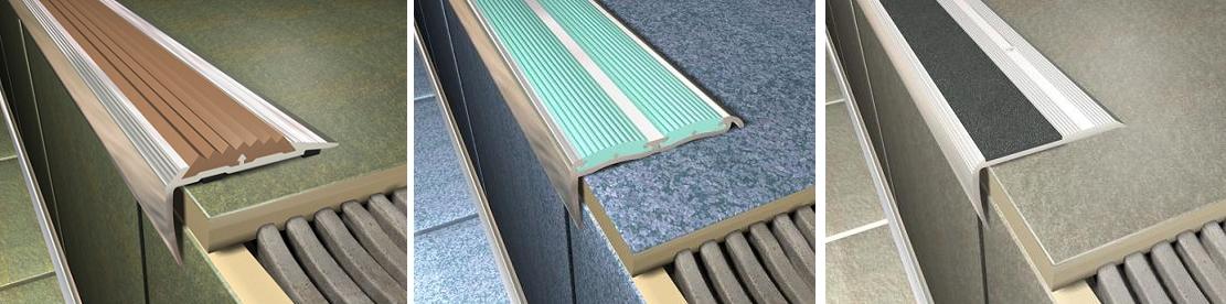 Съемные накладки на край ступени можно установить на уже облицованную лестницу
