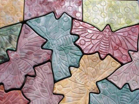 Декор из бетона – цветная декоративная тротуарная плитка