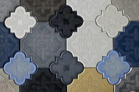Декоративная напольная плитка из цветного бетона