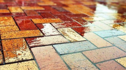 Декоративность цветного бетона для плитки