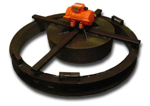 Форма для крышек колодцев с вибратором
