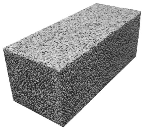 Керамзитобетонный блок полнотелый, фото
