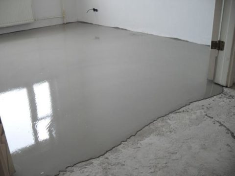 Наливной пол на бетонную стяжку