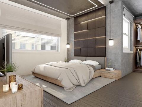 Организация подсветки декоративного потолка и спального места
