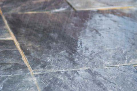 Полотно площадки, мощенной плиткой
