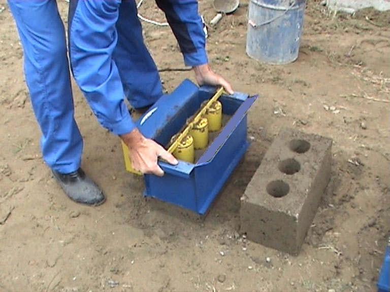 Строительный блок в домашних условиях