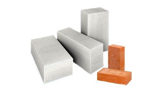 Размеры газобетонных блоков и кирпича
