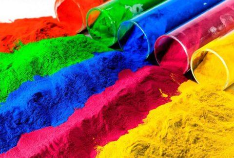 Разнообразие цветовой палитры порошкового красителя