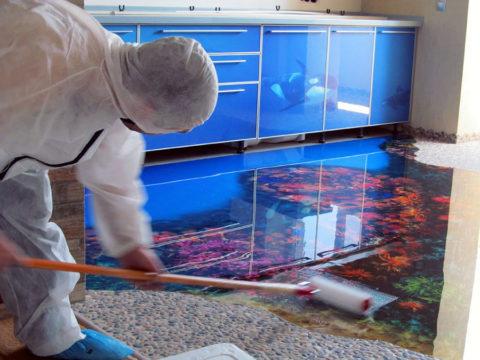 Современные технологии наливных полов дают огромный простор для фантазии